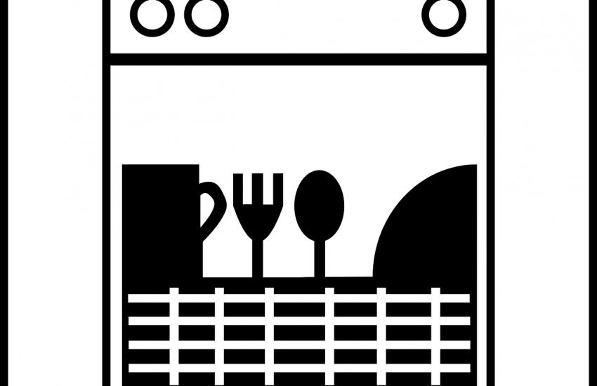 Zeichnung einer Spülmaschine